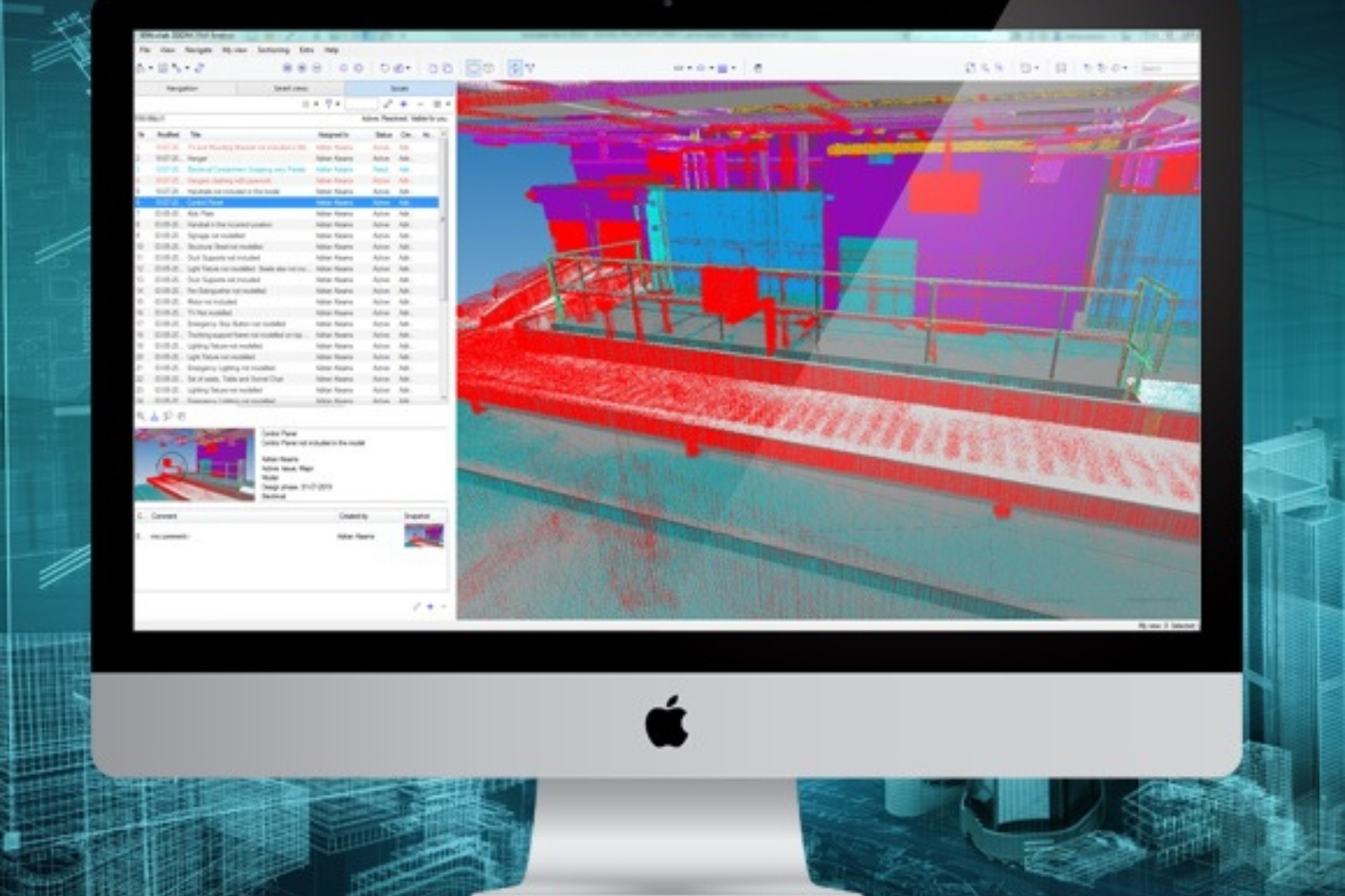 Point cloud to IFC checking: Identifying issues in complex models with AutoCorr & BIMcollab ZOOM